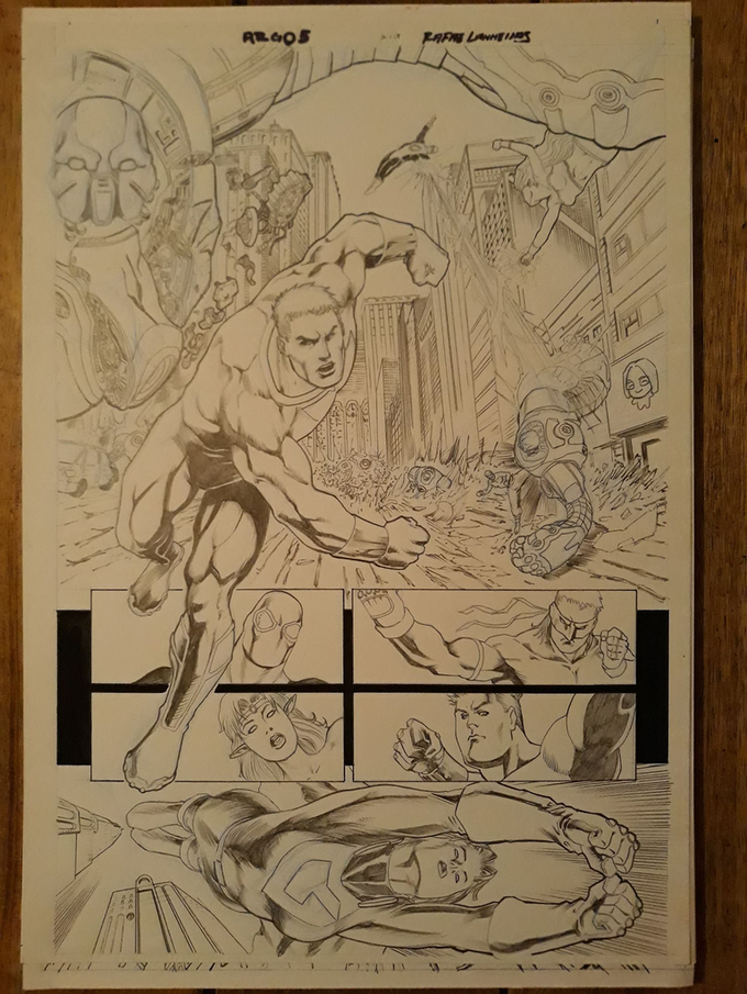 Issue 8 page 2 Original Art Level