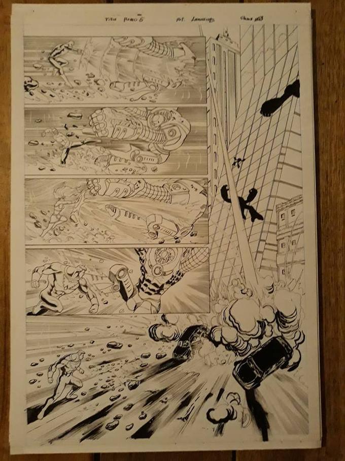 Issue 8 page 3 Original Art Level