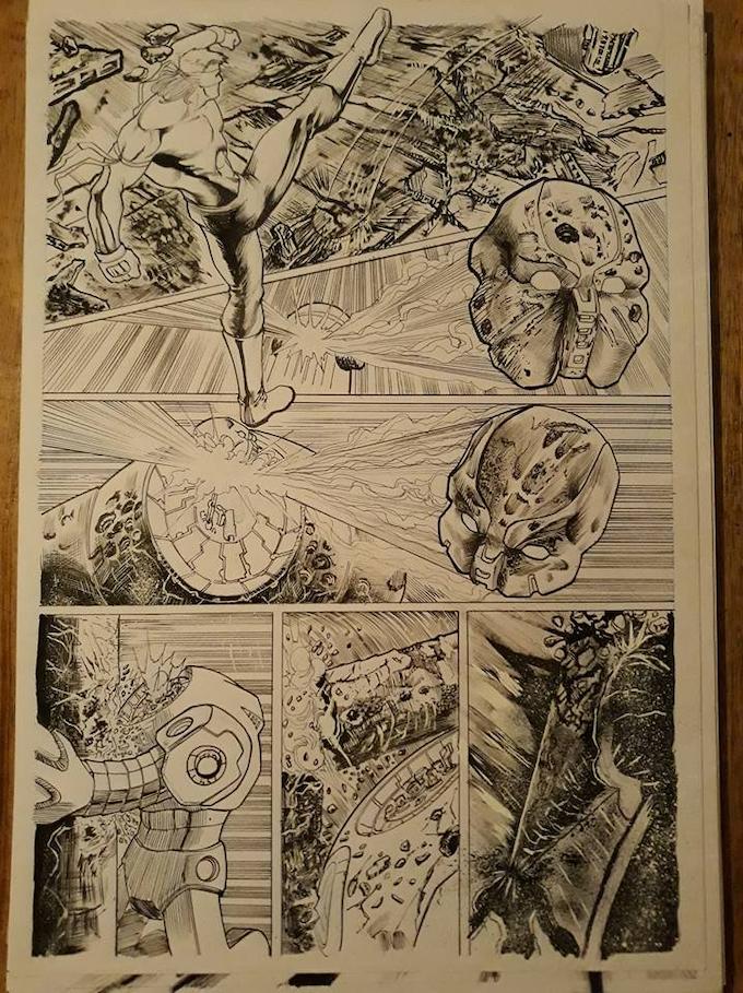 Issue 8 page 4 Original Art Level