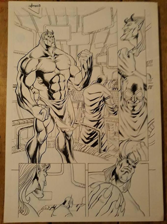 Issue 11 page 11 Original Art Level