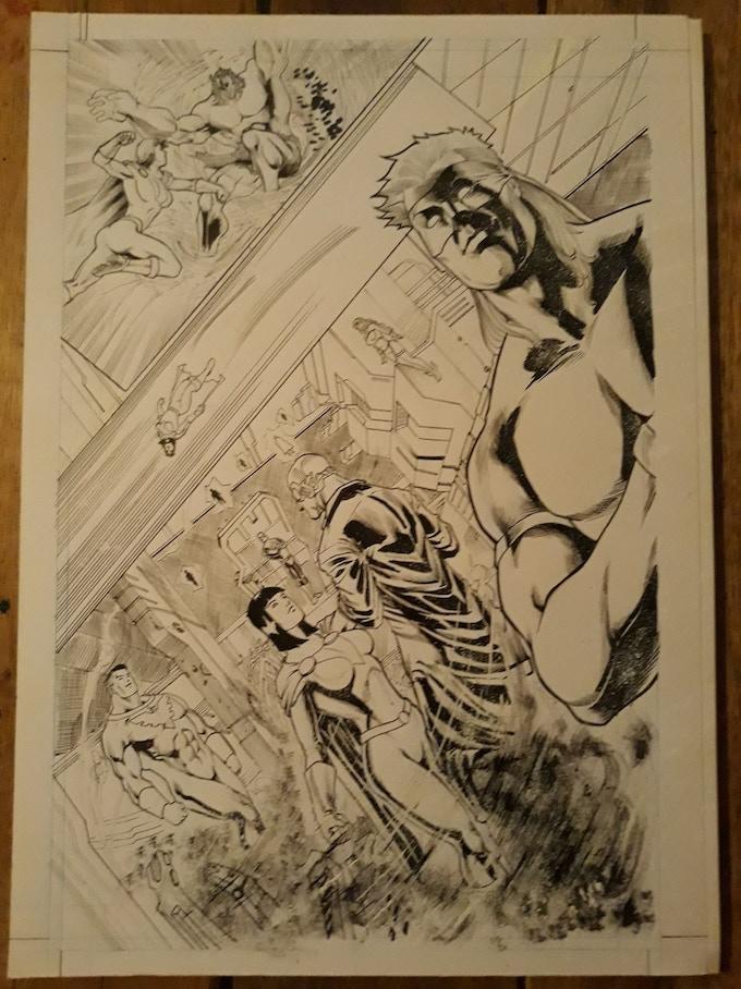 Issue 8 page 20 Original Art Level