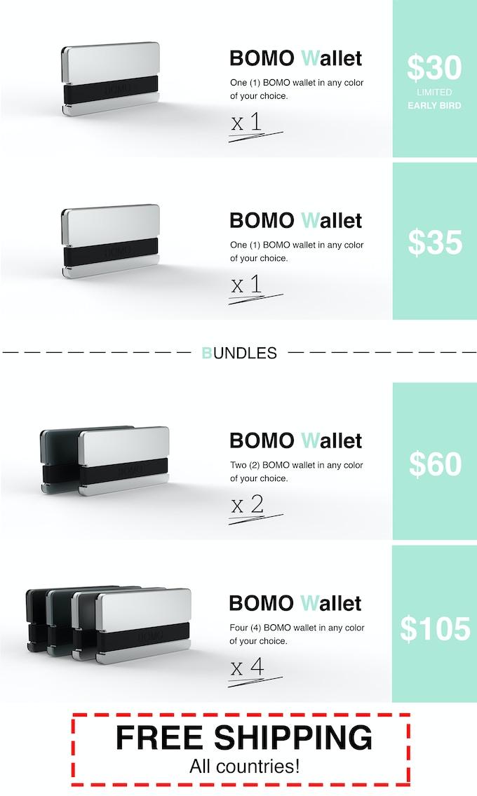 BOMO - Super Compact Minimalist Wallet by Narbeh Khoygani — Kickstarter