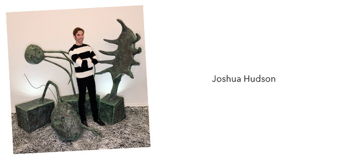 """Joshua Hudson is a full-time creative director but always makes time for his first love of painting and sculpting."""