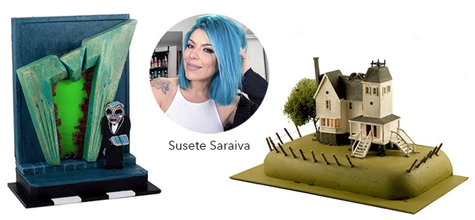 """Susete Saraiva is a Canadian artist & model maker who specializes in horror miniatures."""