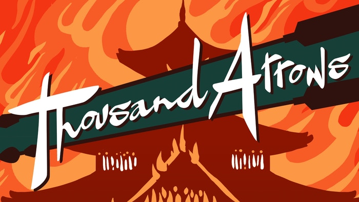 Thousand Arrows is a Powered by the Apocalypse tabletop roleplaying game of samurai drama and action by way of Kurosawa and Chanbara.