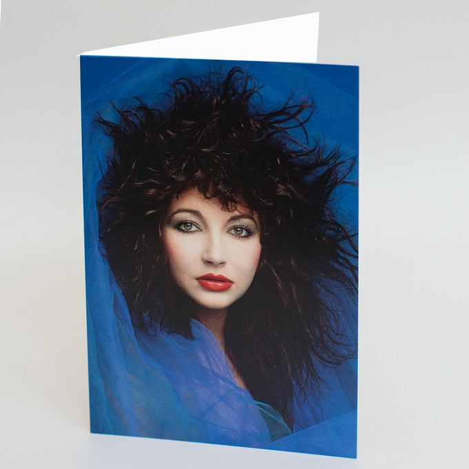 Kate Bush Blue A5 Card