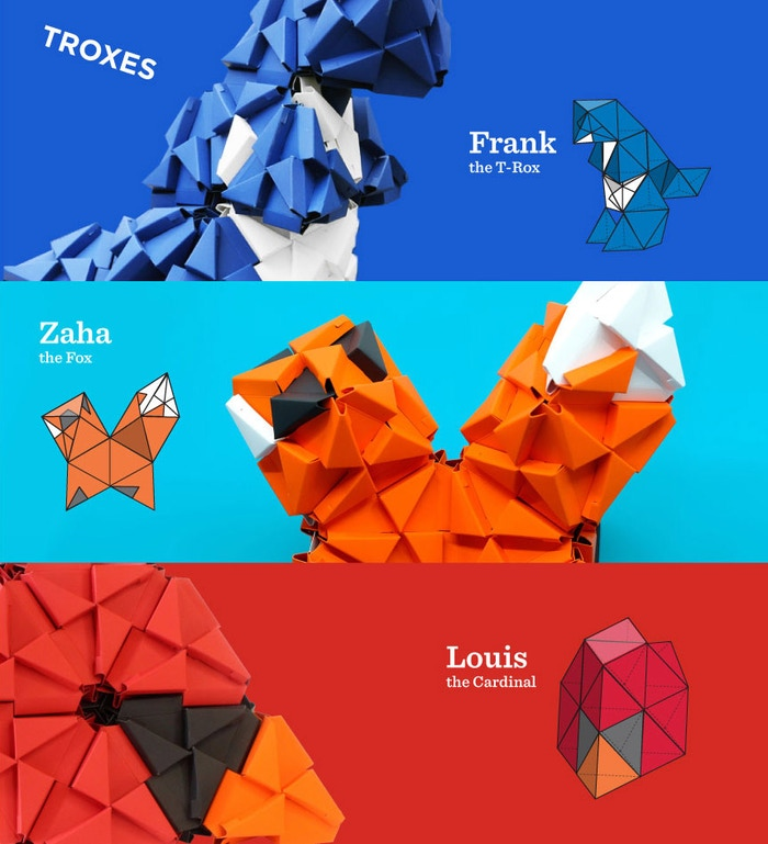 Troxes are a cross between Lego and Origami, what will you create? Troxes are a cross between Lego and Origami, what will you create?