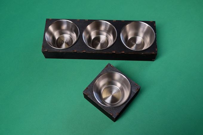 Schale klein und 3er / small cup and 3 set