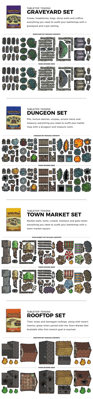 Tabletop Tokens 2: Premium Plastic Tokens for Tabletop RPGs by Geek