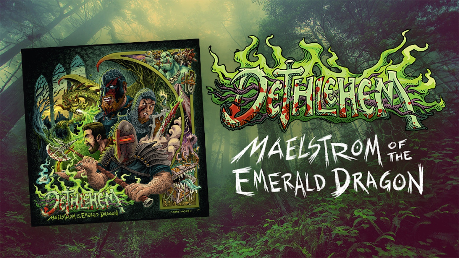 A D&D campaign in the form of a metal album, DETHLEHEM is back with their most ambitious, epic, and adventure filled endeavor yet! Ready your blade!