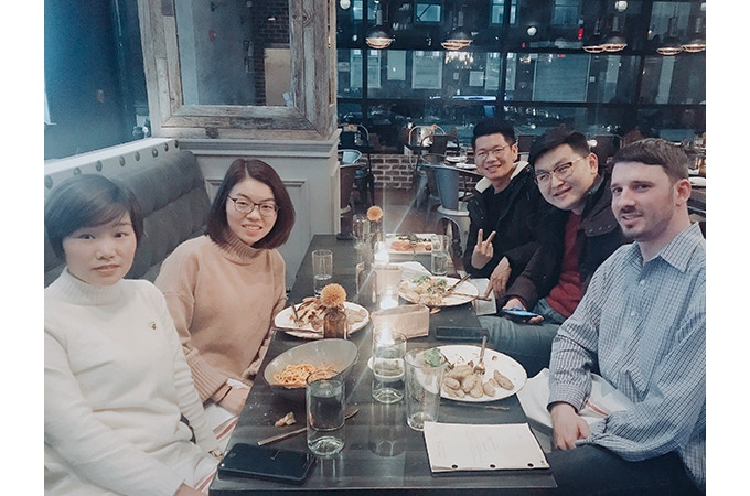 Partner Meeting After the 2018 International CES Event - Daniel Toth: Founder & Engineer (On right)