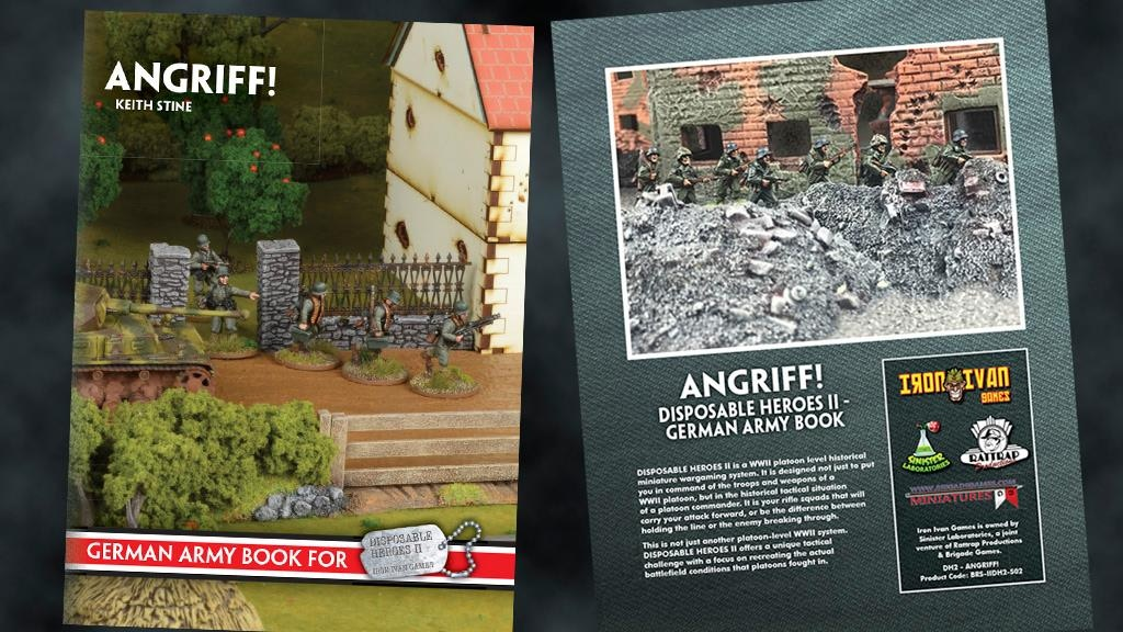 "Project image for WW2 German Army Book ""Angriff"" for Disposable Heroes Wargame"