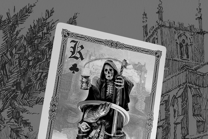 The side of death for the King of Clubs