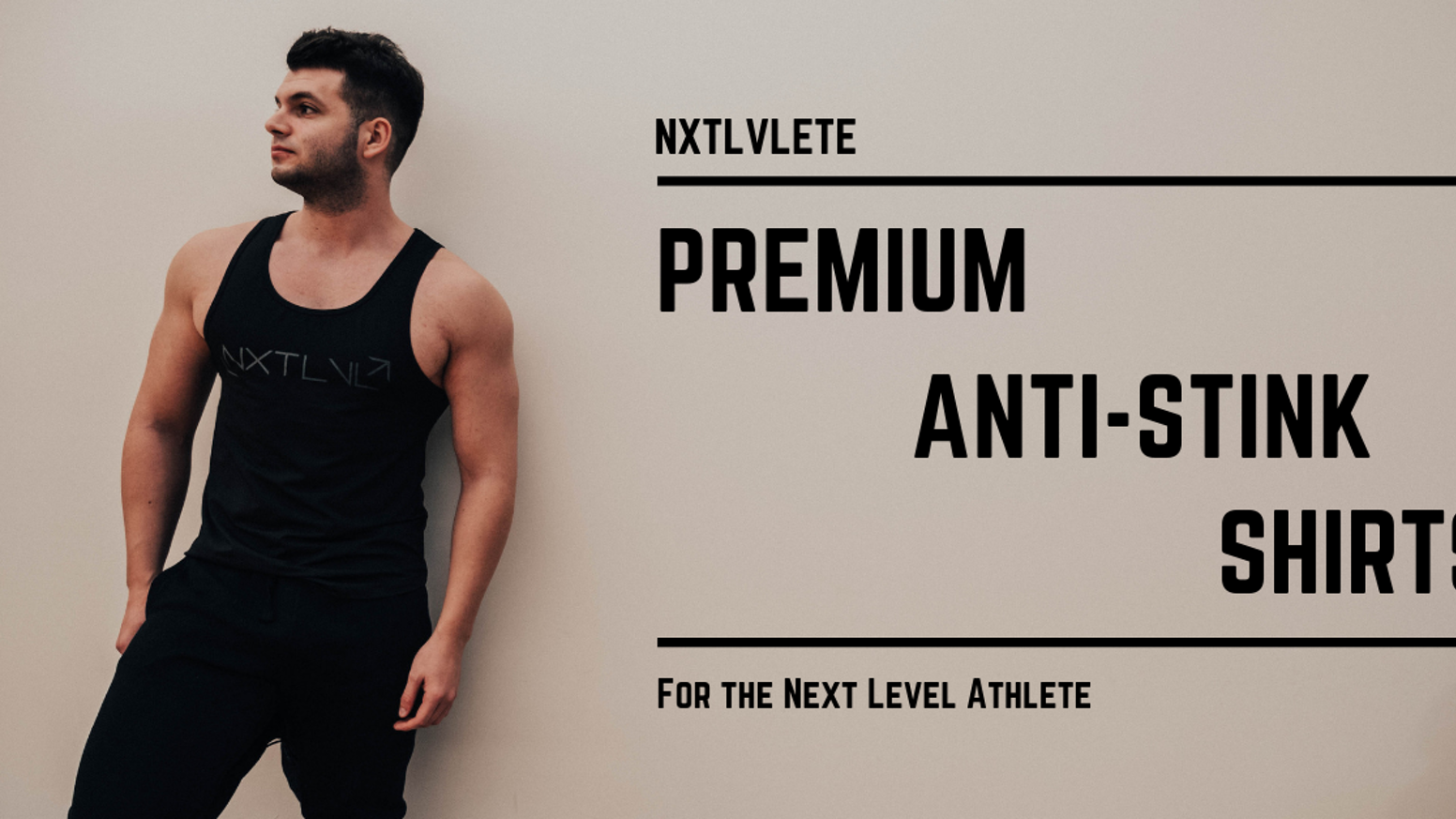 Next Level Fitness Apparel designed for Next Level Athletes. The World's First Premium Anti-stink Fitness & Travel apparel designed for men