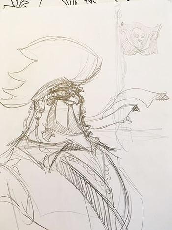 An original sketch of Buc Buccaneer