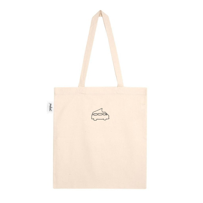 hand embroidered shopper with Gianni