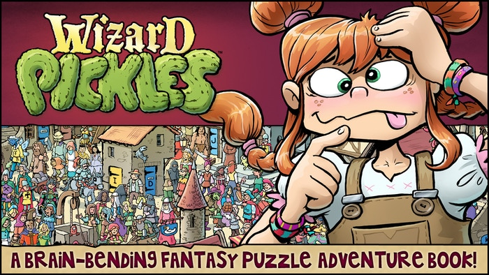 A new kind of brain-bending puzzle adventure book.