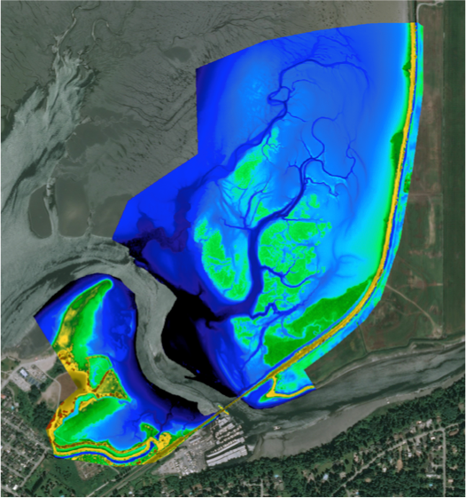 Drone-derived maps show elevations, sediments, vegetation, and soon - pollution