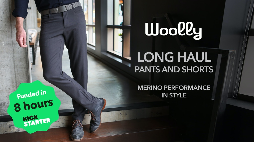 The Longhaul Pant - Merino performance in style by Woolly