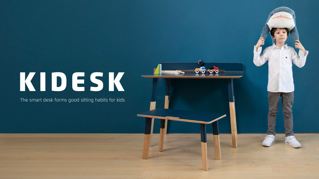 KIDESK: the smart desk forms good sitting habits for kids