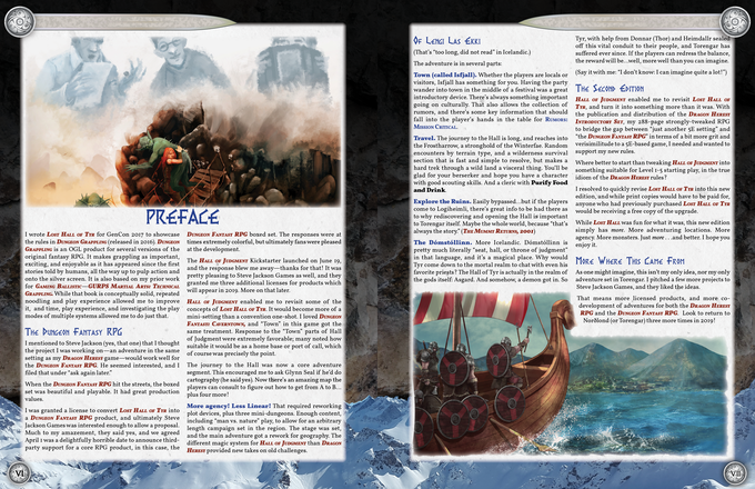 The preface, detailing the publication and edition history