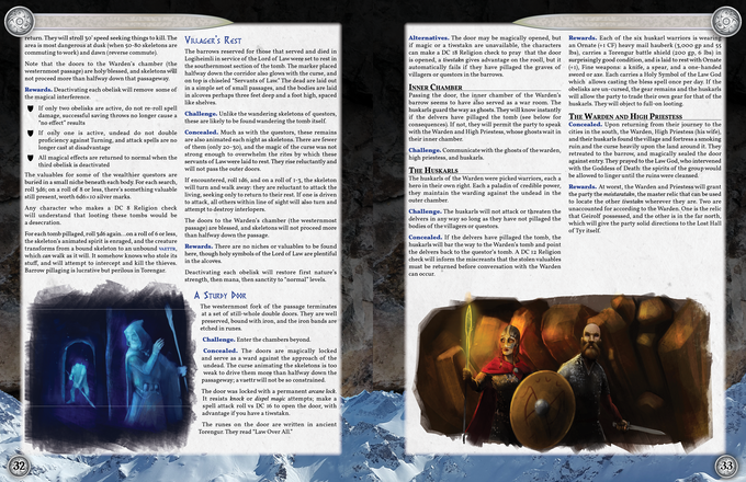 The village of Logiheimli, a new micro-adventure added since the first edition. This segment makes for a nice one-shot adventure in its own right, and showcases some of the new art since the first edition!
