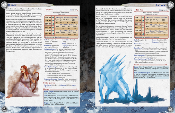 Got to have monsters and threats to make an adventure worthwhile! The bestiary includes most of the creatures that can be encountered playing through the scenario, and where you run out of those, the Dragon Heresy Introductory Set has 100 pages of critters ready for you!