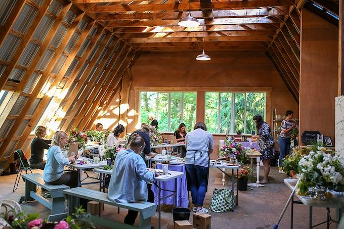 Alchemy Farm Flower Studio - Photo: billiewoods.com