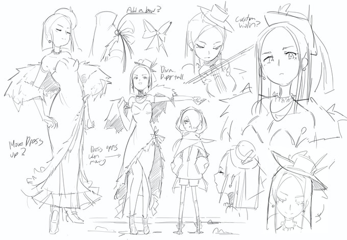 Violette concepts 01 - A violinist who uses musical magic, I hope you like rhythm games