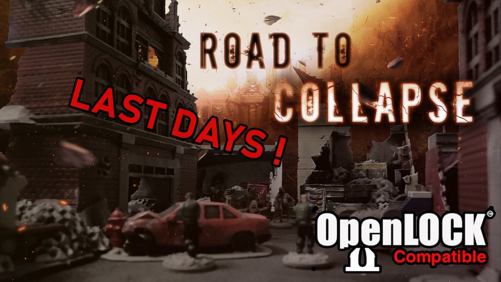 Road to collapse - Modern & post apo scenery (.stl) project video thumbnail