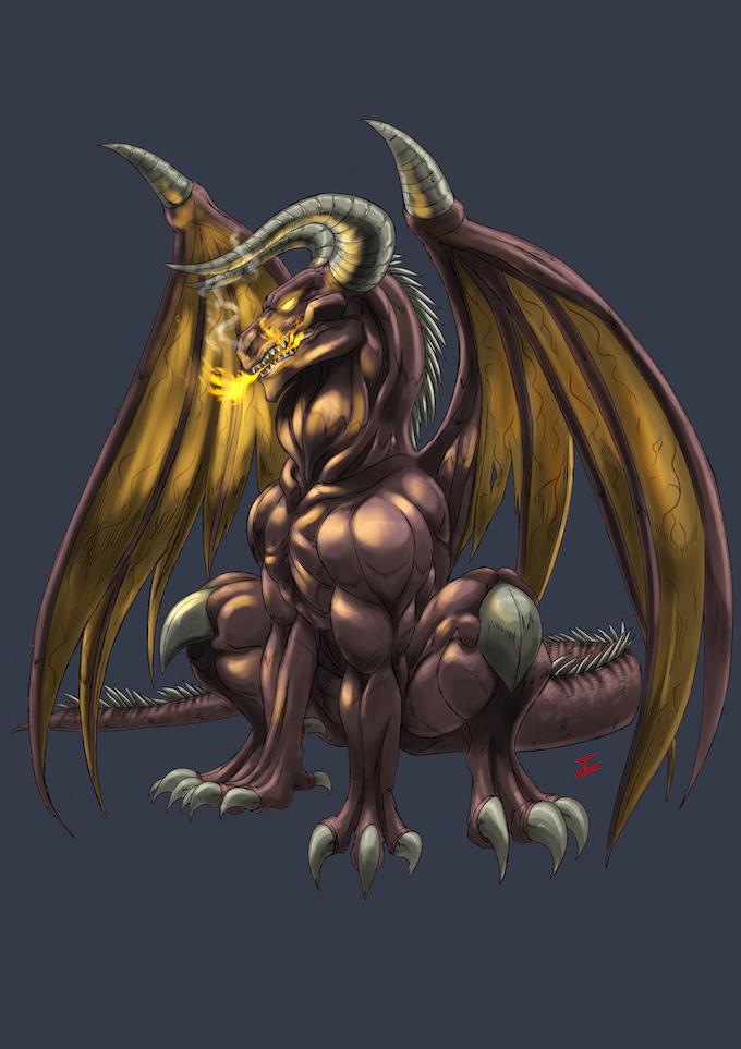Kojirran, the legendary dragon of fire