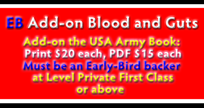 Add On - Early Bird - Blood and Guts - USA Army Book