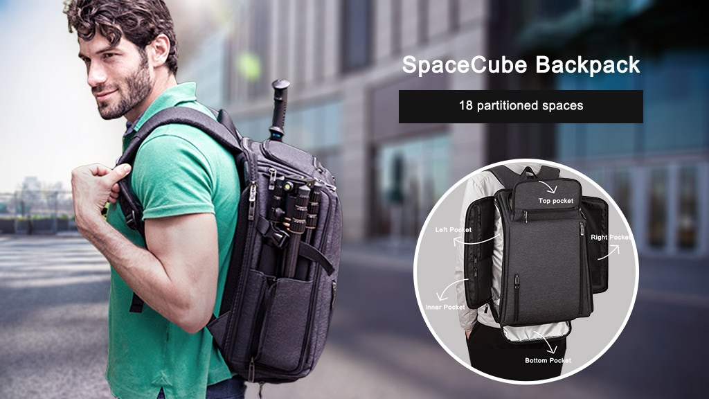 SpaceCube Backpack - Travel or Work Storage Artifact