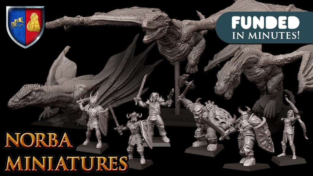 Fantasy Dragons miniatures-Norbaminiatures project video thumbnail