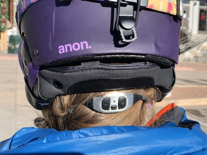 The Leo 5 fits under helmets