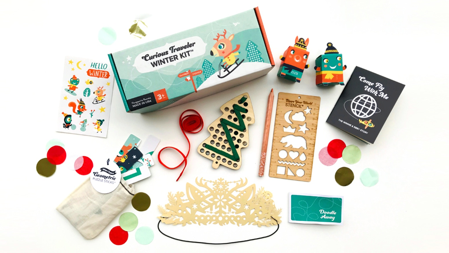 Eco-friendly and imaginative travel kits, that inspire creative play, develop important skills and engage kids while they're on the go.
