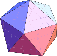 the icosahedron.
