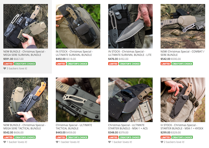 NEW Mega MSK-1 Knife Packages - READY to Ship!