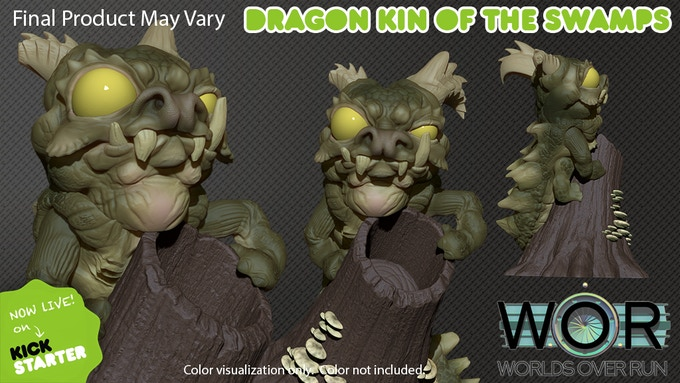 Dragon Kin of the Swamps color visualization. Color not included