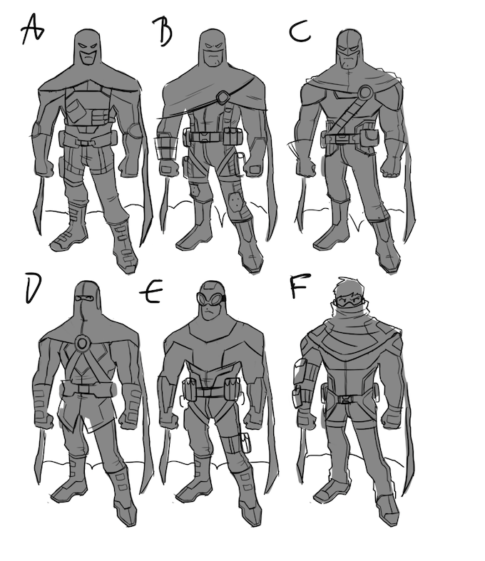You'll also get a look at early designs for our heroes (by Ryan Jampole).