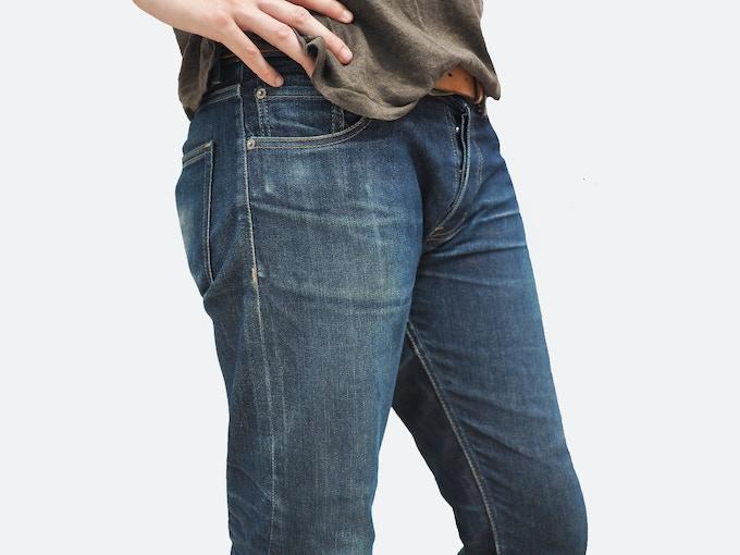 Regular 5-Pocket Style, Well-Worn Raw Denim