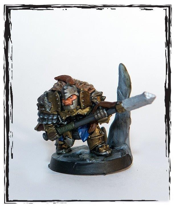 Dwarven Tunnel Fighter with Spear Up ($6.00)