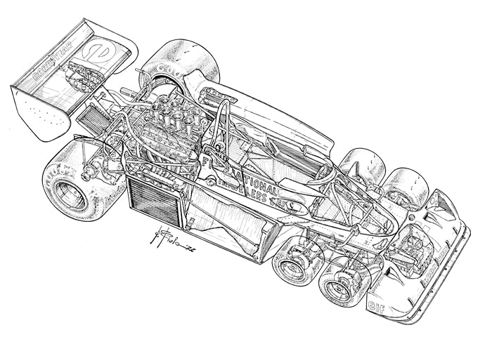 Tyrrell P34 - One of Giorgio's iconic drawings