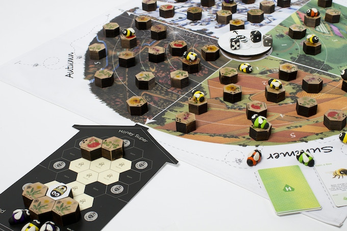 Custom-made game pieces set Forage apart from standard cardboard-based games