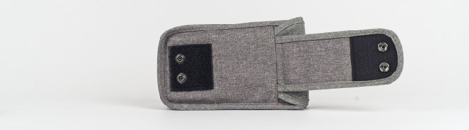Two-way-security with strong velcro pad and two press buttons.