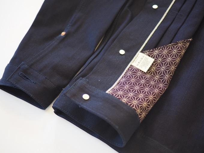 Selvedge On Inner Placket, Kimono Pocket Lining