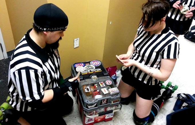 All our Mint Tin Games are tough, even tough enough for roller derby refs!