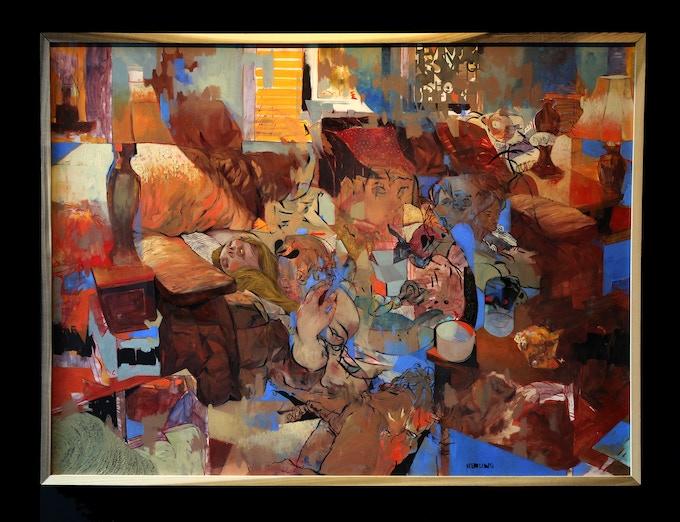 """Baby's Breath"" original oil painting"
