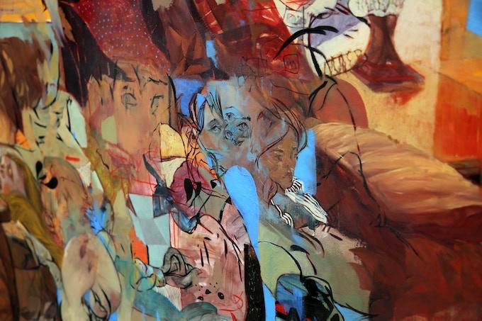 "(detail) ""Baby's Breath""- original oil painting"