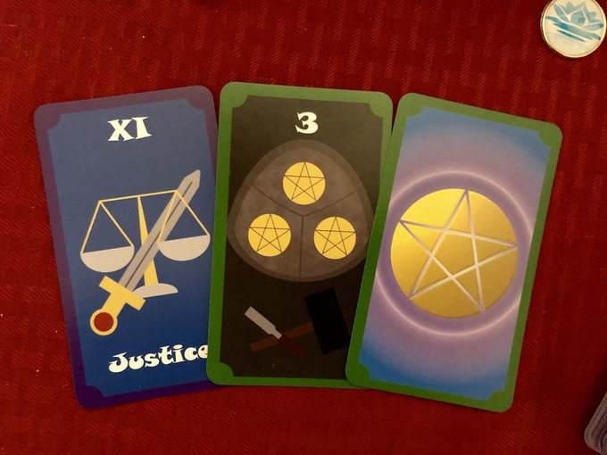 Simple and colorful tarot cards suitable for any level of reading.